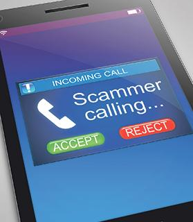 Do not return any missed calls from unidentified, international numbers.