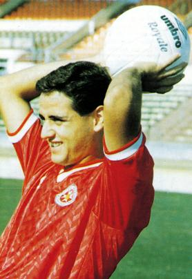 Joe Brincat... 103 matches for the national team.