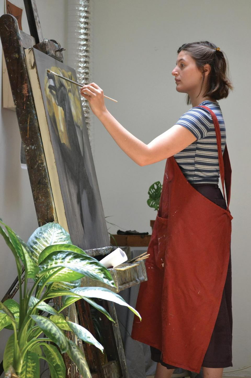 Anna Calleja in her studio