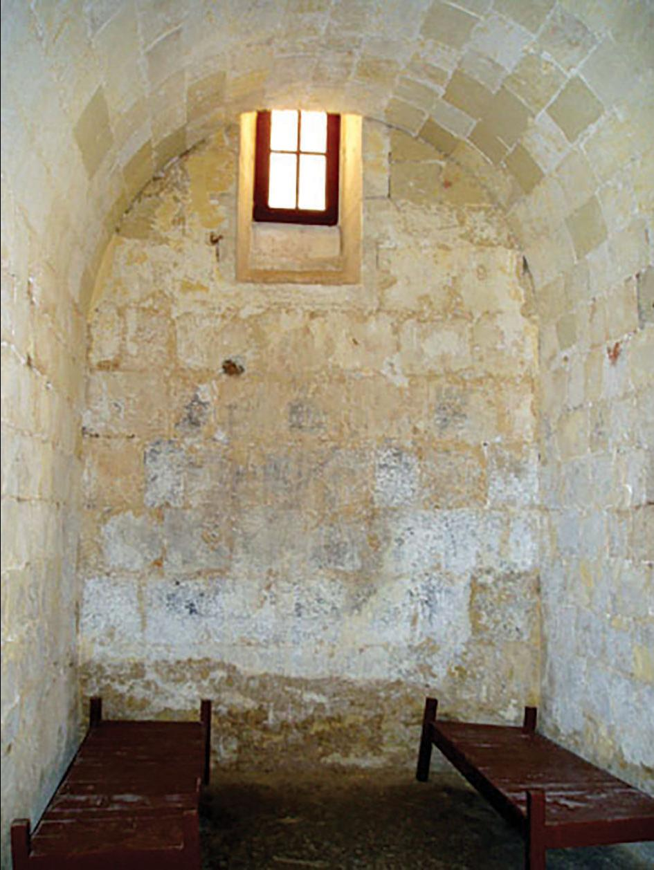 A cell for prisoners in the Inquisitors' Palace, Vittoriosa. Photo: Courtesy of Heritage Malta