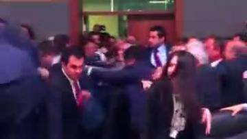 Fists fly in Turkey's parliament