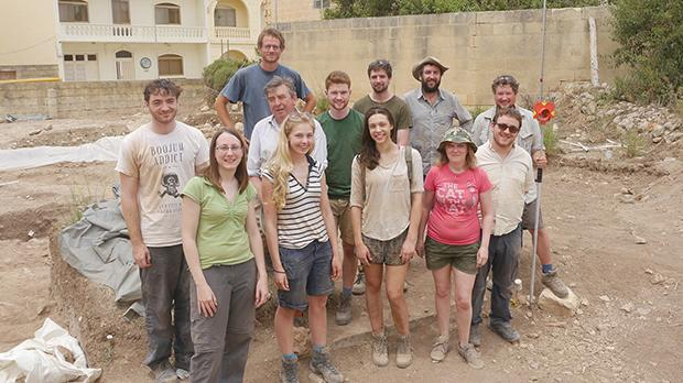The team from Queen's University Belfast on site in Malta. Inset and below: skull remains found on site show that sophisticated dental work had been carried out as early as 2,500BC.