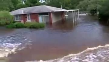 Watch: Rising flood waters from Florence menace Carolinas