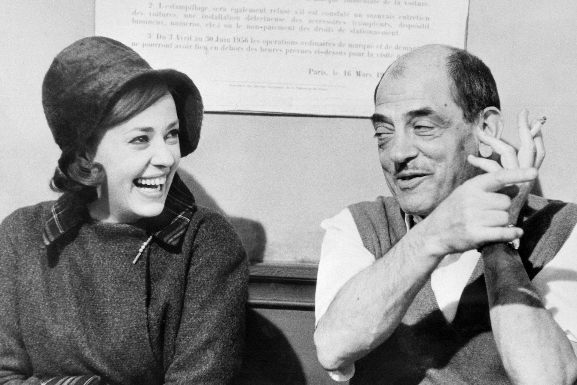 Actress Jeanne Moreau (left) and film director Luis Buñuel have both worked with Carriere. Photo: AFP