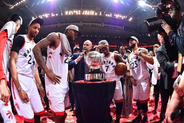 6e35bdf62d9 Ernie Johnson interKawhi Leonard  2 of the Toronto Raptors and Kyle Lowry   7 of