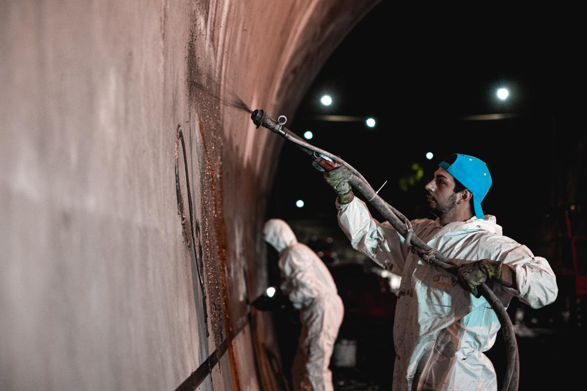 Santa Venera tunnel walls are lined at night. Photo: Infrastructure Malta