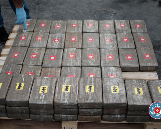 Some of the cocaine. Photo: Customs Department