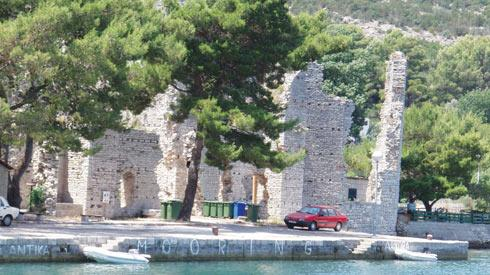 The remains of the Roman Palace in Polace, the largest and safest harbour on the island.