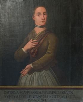 Portrait of Caterina Scappi dated 1643. Courtesy of Heritage Malta and the Ministry of Health. Photo: Matthew Mirabelli