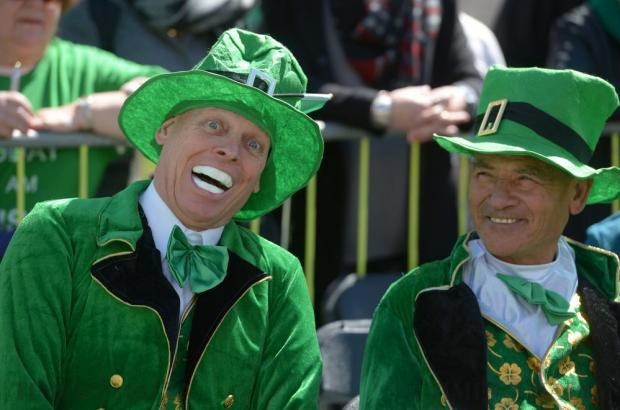 People participate in a St Patrick's Day parade in Valletta on March 13. Photo: Matthew Mirabelli