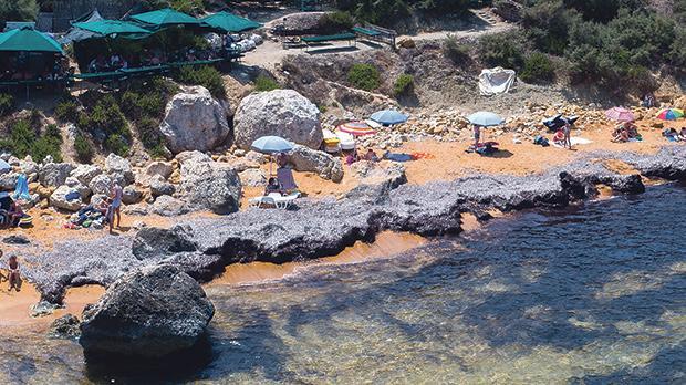 Tons of seaweed still litter San Blas in Gozo.