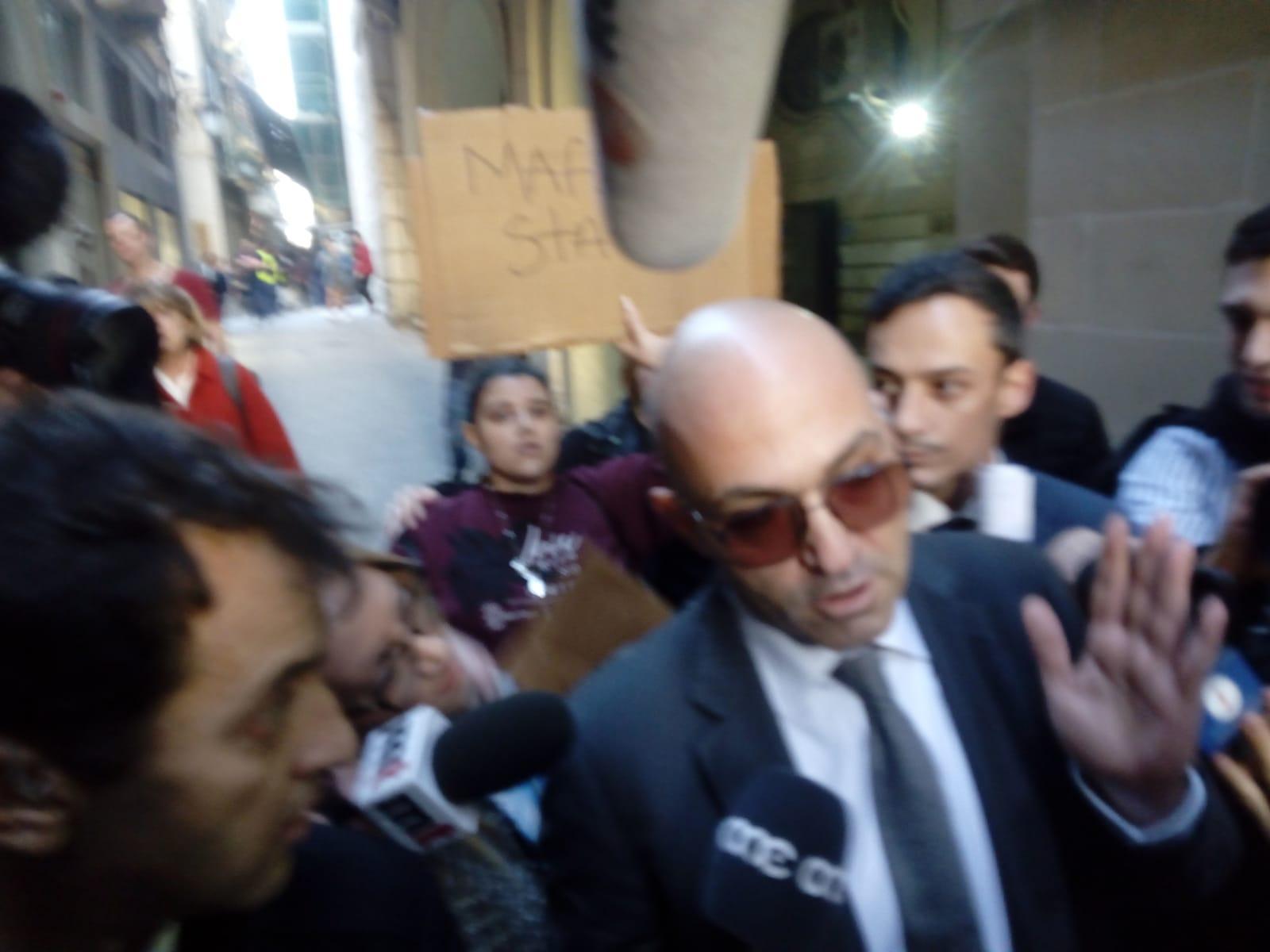 Yorgen Fenech walking unprotected down the streets of Valletta. Photo: Matthew Xuereb