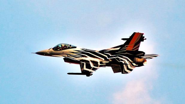 A Belgian Air Force F-16 at the Malta International Air Show. Photo: Joe Ambrogio