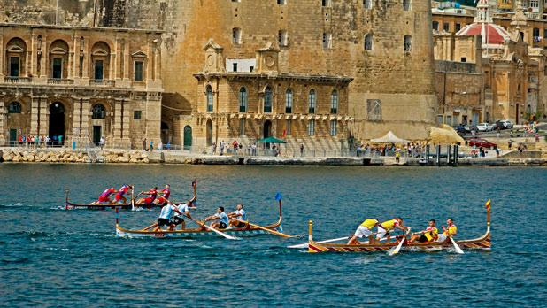 The traditional Victory Day regatta in Grand Harbour. Photo: Maria Sammut