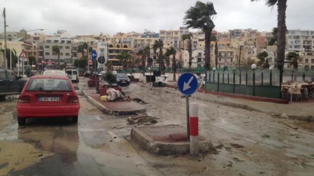 Debris washed ashore in Marsascala. Photo: Kurt Sansone