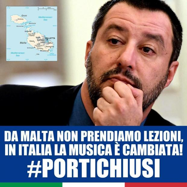 The image uploaded with Salvini's tweet.