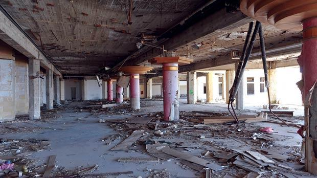 The former Jerma Palace hotel has become a public safety hazard as every floor and open lift shaft is easily accessible. Photos: Chris Sant Fournier