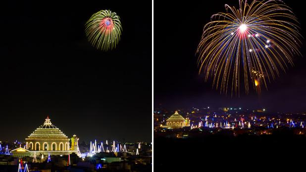Santa Maria fireworks. Photos: Poppy Stevenson/Joe Muscat