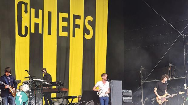 Kaiser Chiefs performing at the Greenville Festival. Photo: Henry Laurisch