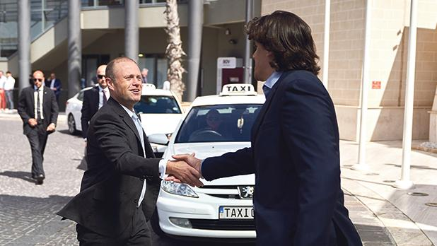 Prime Minister Joseph Muscat and Eman Pulis, CEO of SiGMA and of the Malta AI & Blockchain Summit.