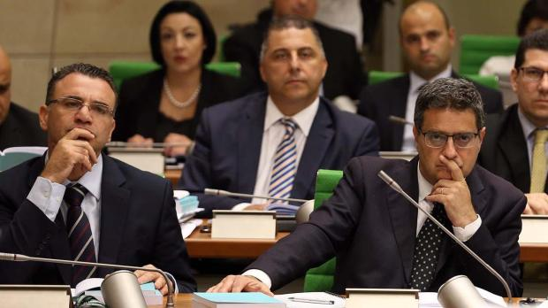 Adrian Delia (right) said the country's institutions were in freefall. Photo: DOI/Omar Camilleri