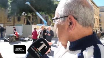 Watch: Sparks fly as Mintoff and Caruana Galizia 'share' the same shrine
