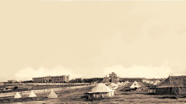Cottonera Hospital tents, one of the many hospital tent complexes erected to provide for the thousands of sick and wounded treated in Malta.