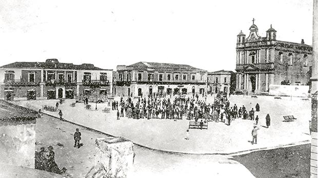 Pachino's main square in the early 20th century.