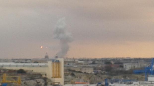 The explosion seen from Valletta, Picture - Joseph Camilleri - mynews@timesofmalta,com