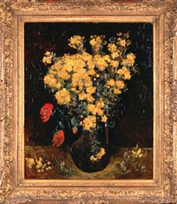 Egypt police on alert after van gogh security faade vincent van goghs poppy flowersvase with flowers photo afp mightylinksfo