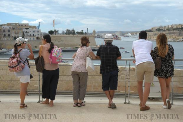 People enjoy an open day at Fort St Angelo in Vittoriosa on September 8, after the fort underwent extensive restoration works. Photo: Matthew Mirabelli