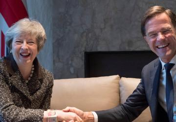 Britain's May meeting Merkel, Rutte and Juncker amid Brexit crisis