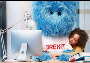 Dutch unveil furry Brexit monster