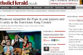 The Catholic Herald tells readers: pray for the Pope, and remember Gianluca