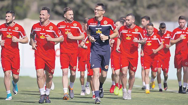 Malta national team players during a training session. Photo: Paul Zammit Cutajar
