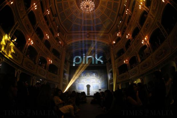 Guests wait for the Pink Fashion Show to begin at the Manoel Theatre in Valletta on November 15. Photo: Darrin Zammit Lupi
