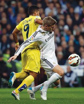 Toni Kroos (right) is in his first season at Real Madrid.