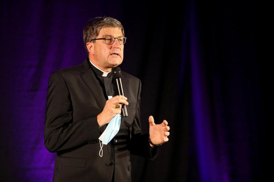 Archbishop Eric de Moulins-Beaufort.