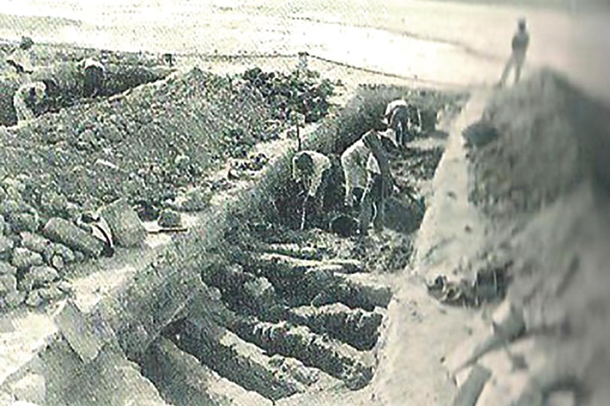 Excavating Muslim graves at Rabat in 1881.