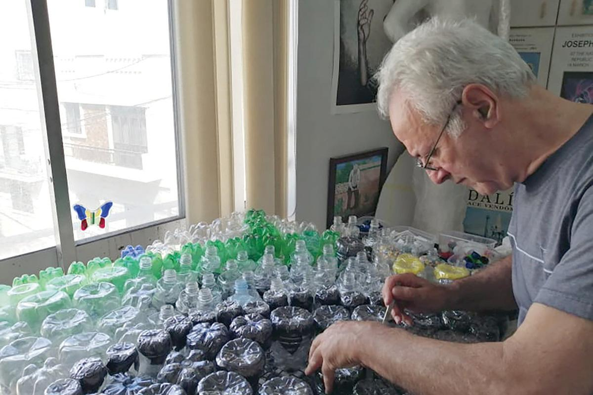 Barbara will be using over 3,000 bottles for his art installation.