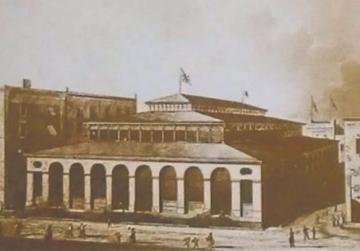 A view of the Valletta Market as designed by Hector Zimelli under the direction of Emanuele Luigi Galizia. The roof lost its elegant symmetry when repair works were carried out after the war.