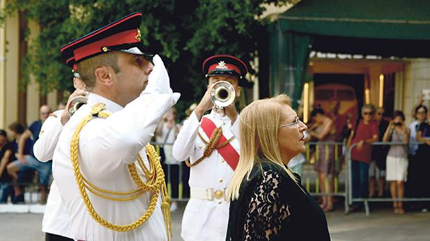President Marie-Louise Coleiro-Preca yesterday laid a wreath at the foot of the Great Siege Monument in Valletta on the occasion of Victory Day, one of Malta's five national days. Photo: Jonathan Borg