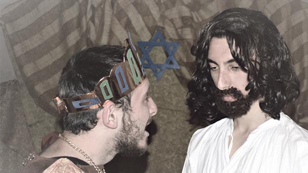 Youths in costume rehearsing. Photo: Daniel Busuttil