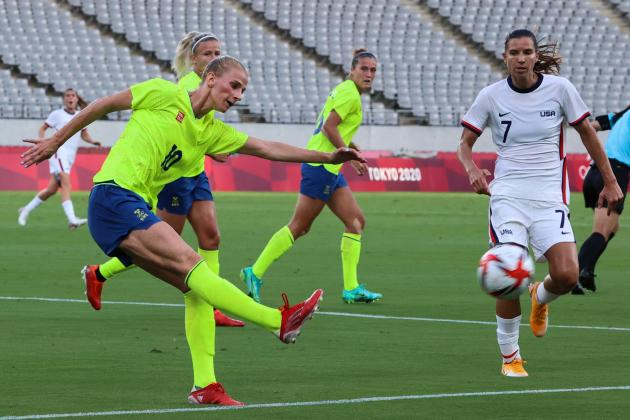 US women's 44-game unbeaten run ended by Sweden at Olympics
