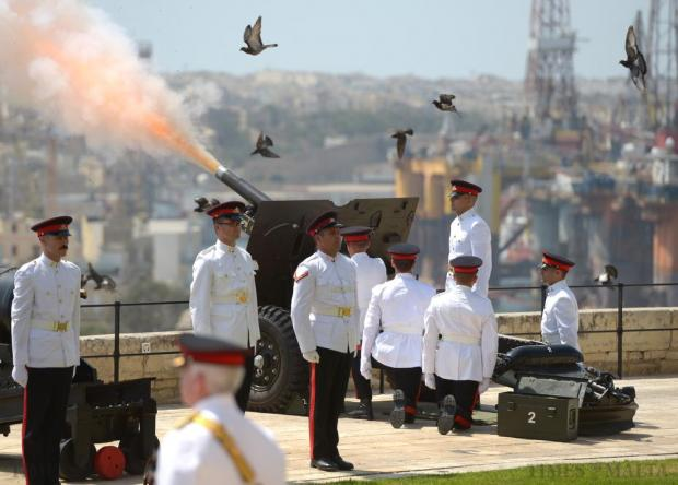 The 300th anniversary of the Royal Regiment of Artillery was marked with a bang when the Armed Forces of Malta fired the 25-pounder and Victorian guns at the Upper Barrakka in Valletta on July 10. Photo: Matthew Mirabelli