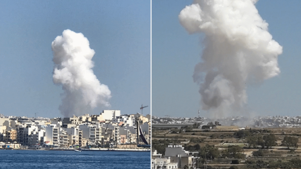 Two separate photos taken by Times of Malta readers.