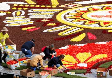 Mexican theme for this year's flower carpet in Brussels