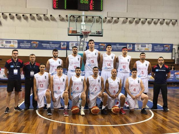 The men's national team at the Championships for Small States in San Marino.