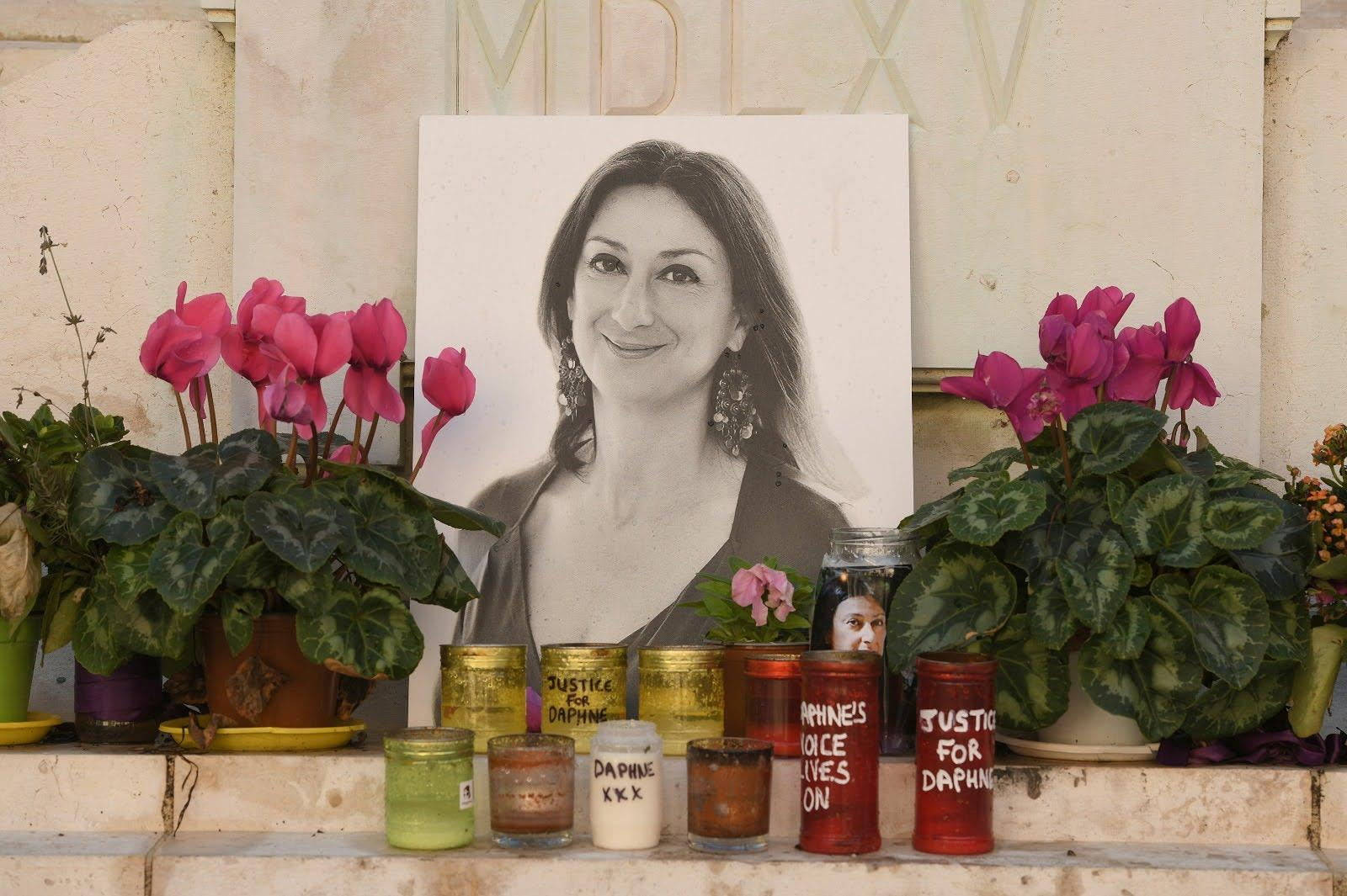 A portrait of Daphne Caruana Galizia, who was assassinated as she worked on a leak of Electrogas documents. Photo: Matthew Mirabelli