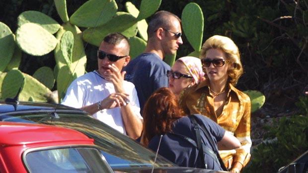 Khiron Security has been contracted by major event organisers for years. John Muscat (centre) is seen here working as security for Madonna when she was filming Swept Away in Malta in 2001. Photo: Darrin Zammit Lupi